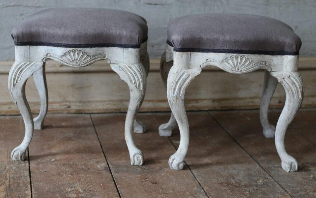 Item no3, Pair of footstools, rococo
