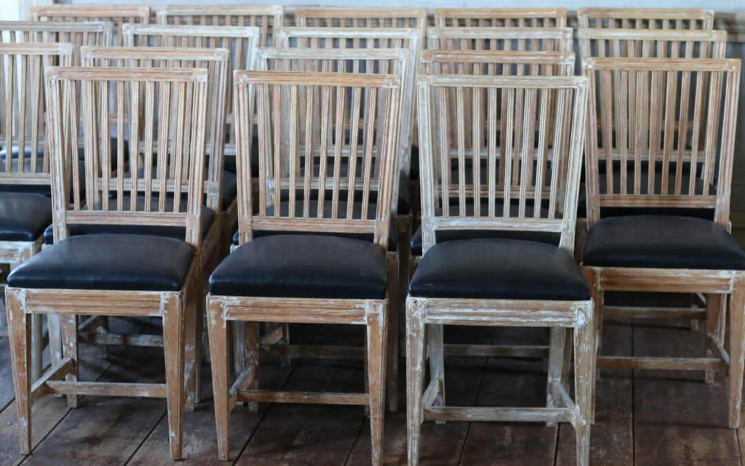 Item no4, Set of gustavian chairs